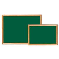 木枠スチールグリーン黒板 板面寸法:W494×H346 (866SM1)
