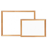 木枠スチールホワイト黒板 板面寸法:W494×H346 (800WM1)