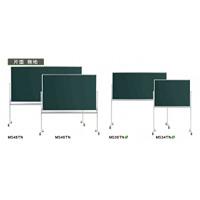スチールグリーン黒板 MAJIシリーズ (脚付) 黒板 片面無地 板面寸法:W1210×H910 (MS34TN)