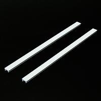 マグネットバー L300 白 ポスターセット用 2本 (magnetbar-W-l300x2)