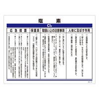 化学物質関係標識 450×600×1mm 表記:塩素 (035303)