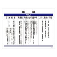 化学物質関係標識 450×600×1mm 表記:硝酸 (035304)
