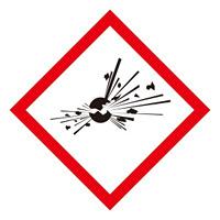 化学物質関係標識 GHSラベル 爆弾の爆発 5枚入り サイズ: (大) ◇一辺/150mm (037103)