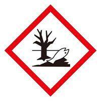 化学物質関係標識 GHSラベル 環境 5枚入り サイズ: (中) ◇一辺/70mm (037208)