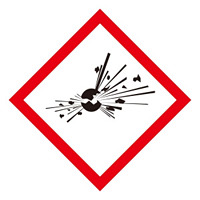 化学物質関係標識 GHSラベル 爆弾の爆発 5枚入り サイズ: (小) ◇一辺/40mm (037303)