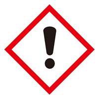 化学物質関係標識 GHSラベル 感嘆符 5枚入り サイズ: (小) ◇一辺/40mm (037307)