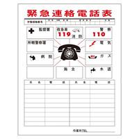 消防・危険物標識板 連絡一覧表 780×540mm (051001)