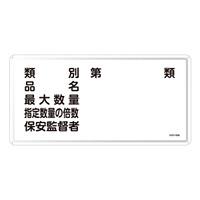 危険物標識 スチール明治山 横書き 300×600mm 表示:類別 第○類 (055116)