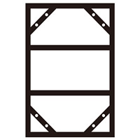 300×600mm明治山型標識用 連結掲示用スチール枠 スライドアングル KHY-3SA 912×605mm (55300)