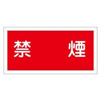 禁止標識 硬質エンビ 横書き 250×500×1mm 表示:禁煙 (056030)