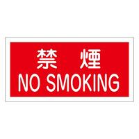 禁止標識 硬質エンビ 横書き 250×500×1mm 表示:禁煙 NO SMOKING (056040)