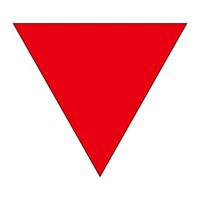 消防標識板 消防隊進入口マーク 200mm三角 仕様:〈進A〉 表ノリタイプ (屋内から貼付) (073001)