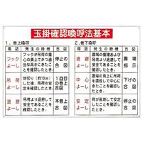 玉掛ワイヤーロープ標識 600×900×1mm 表記:玉掛確認喚呼法基本 (084107)