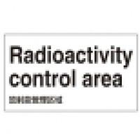放射能管理区域 外国語ステッカー 5枚1組 表記:ポルトガル語 (099206)