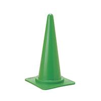 カラーコーンスタンド (スタンド) 700mm・ (ベース) 385mm角 カラー:緑 (116012)