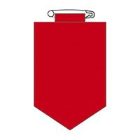 ビニールワッペン 無地 カラー:赤 (126104)