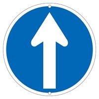 道路標識 600mm丸 表示:直進 (133155)