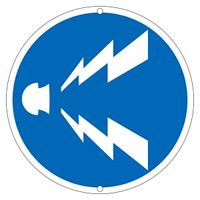 道路標識 600mm丸 表示:警笛鳴らせ (133250)