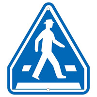 道路標識 横断歩道 685×600mm (133331)
