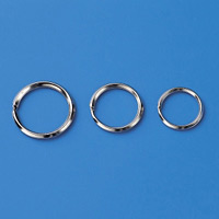 金具 2重リング 10個1組 サイズ:内径18.5mmφ (137160)