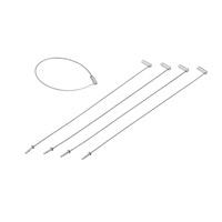 金具 ワイヤーリング 線径1.0mmφ×長さ200mm 5本1組 (137280)