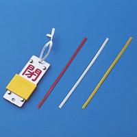 ビニールタイ 4mm幅×150mm 100本1組 カラー:赤 (137374)
