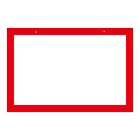 区画標識 文字無 300×450×2mm 仕様:赤枠 (143201)