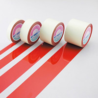 ガードテープ 赤 サイズ:25mm幅×100m (148014)