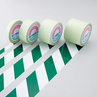ガードテープ 白/緑 サイズ:25mm幅×100m (148024)