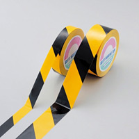 ガードテープ(再はく離タイプ) 黄/黒 サイズ:50mm幅×100m (149036)
