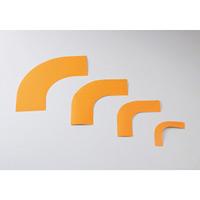 ガードテープ用コーナーテープ 10枚1組 オレンジ サイズ:75mm幅 (150035)