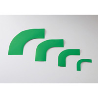 ガードテープ用コーナーテープ 10枚1組 緑 サイズ:100mm幅 (150042)