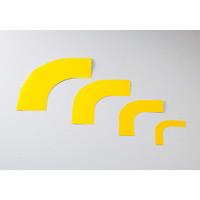ガードテープ用コーナーテープ 10枚1組 黄 サイズ:100mm幅 (150043)