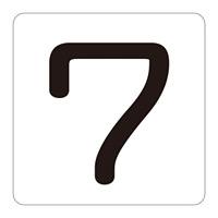 数字表示ステッカー 「7」 5枚1組 サイズ:小 40mm角 (171707)