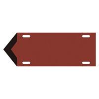 JIS配管識別標識 液体方向表示板 暗い赤 サイズ: (中) 100×300×1.8mm (174206)