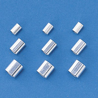 ステンレスワイヤーロープ止金具 10個1組 適合ワイヤー (ロープ径) :ワイヤー8 (0.81mmφ) 用 (197051)