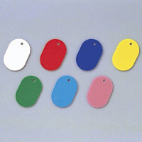 カラー小判札 無地 45×30×2.5mm (小) カラー:ブルー (200015)