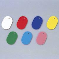 カラー小判札 無地 60×40×2.5mm (大) カラー:レッド (200024)