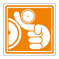 PL警告表示 (簡易タイプ) ステッカー 10枚1組 巻き込まれに注意 サイズ:大 (201013)