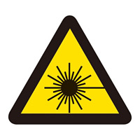 PL警告表示 (簡易タイプ) ステッカー 10枚1組 レーザー光線 サイズ:中 (202008)