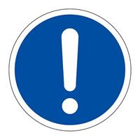 PL警告表示 (簡易タイプ) ステッカー 10枚1組 一般的「義務的行動」 サイズ:中 (202012)