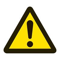 PL警告表示 (簡易タイプ) ステッカー 10枚1組 一般的「警告」「注意」「危険」 サイズ:小 (203001)