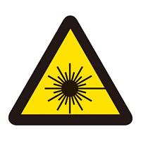 PL警告表示 (簡易タイプ) ステッカー 10枚1組 レーザー光線 サイズ:小 (203008)
