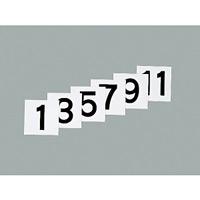 100mm角数字札 仕様:1〜12 6枚1組 (228021)