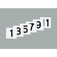 75mm角数字札 仕様:1〜12 6枚1組 (228031)