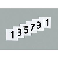 50mm角数字札 仕様:1〜12 6枚1組 (228041)