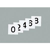 50mm角数字札 仕様:0〜9 5枚1組 (228043)