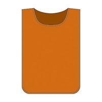ゼッケン無地 600×440mm カラー:オレンジ (237105)