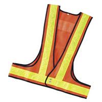 LED内蔵ベスト カラー:メッシュ/橙 反射/黄 LED/赤 (238091)
