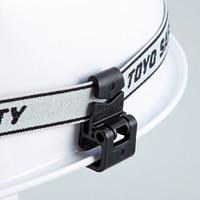 ヘルメット用ゴーグルクリップ 2個1組 仕様:ミゾ付きヘルメット用 (241103)